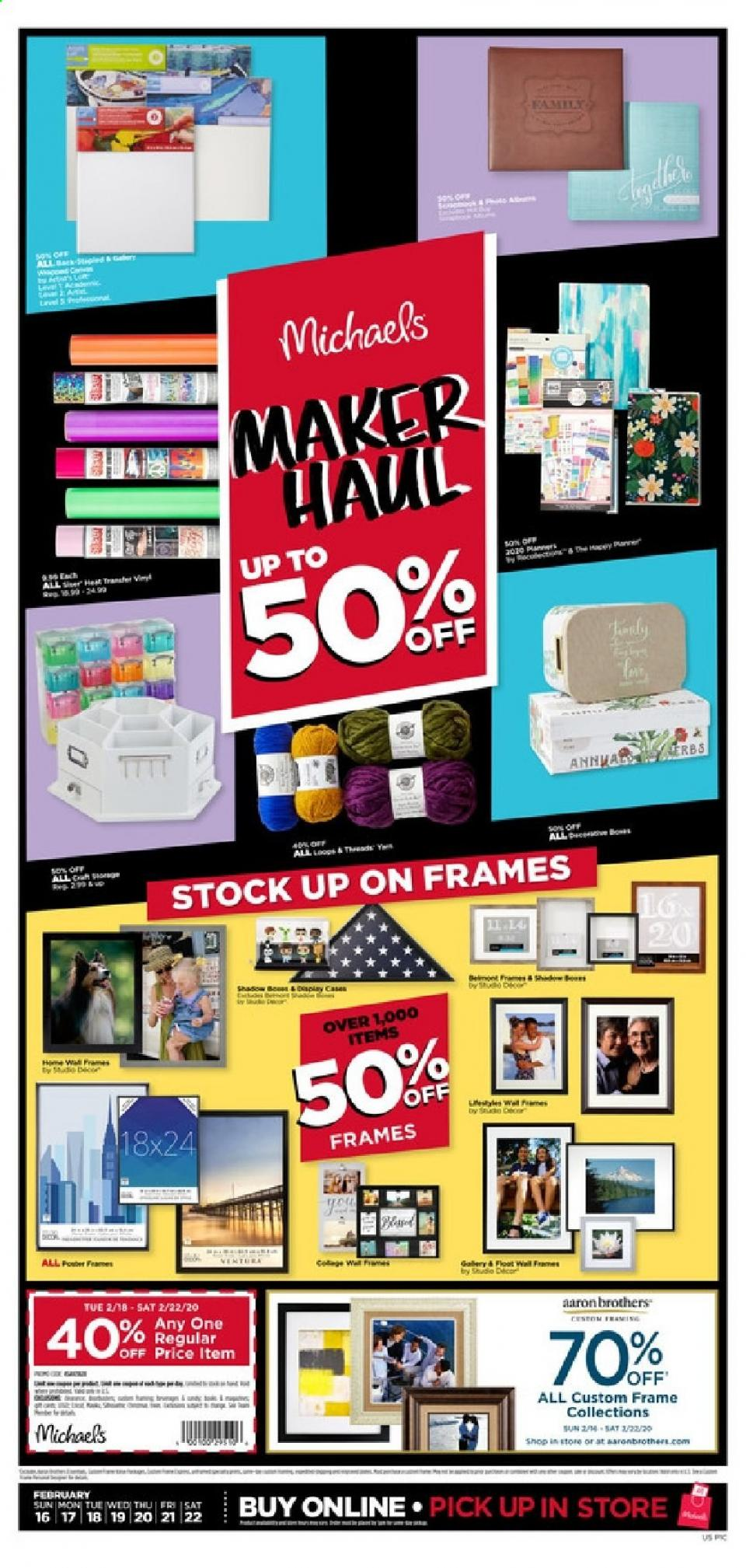 michaels weekly ad feb 16 22 2020