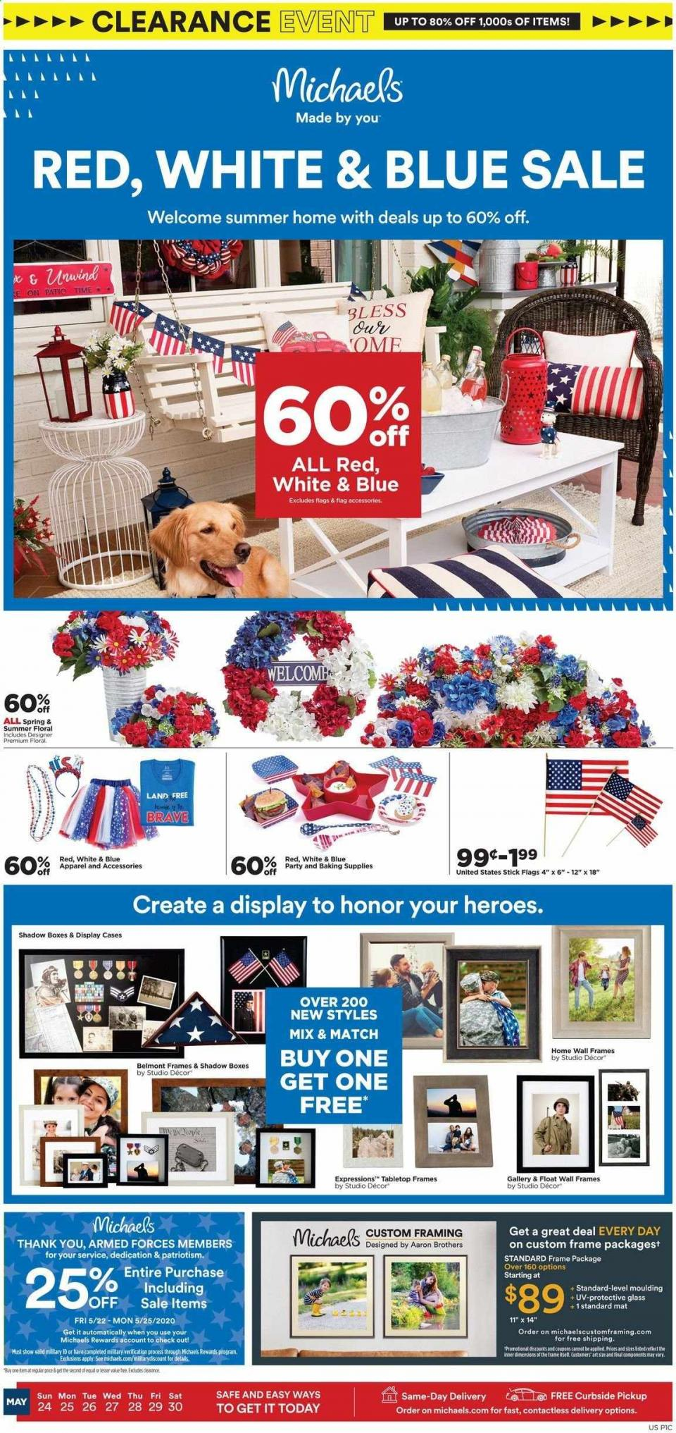 Michaels May Clearance Weekly Ad valid from May 24 – 30, 2020