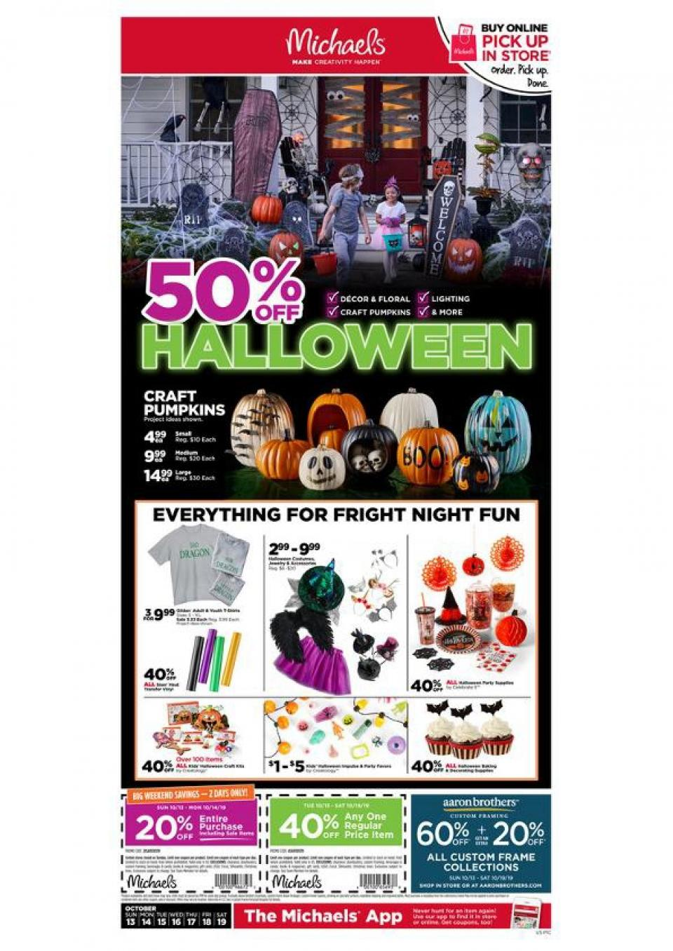 michaels weekly ad oct 13 19 2019