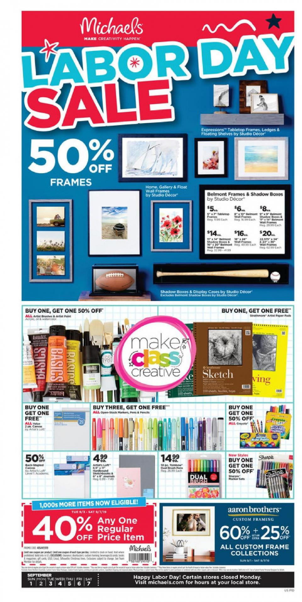 michaels weekly ad sep 1 7 2019