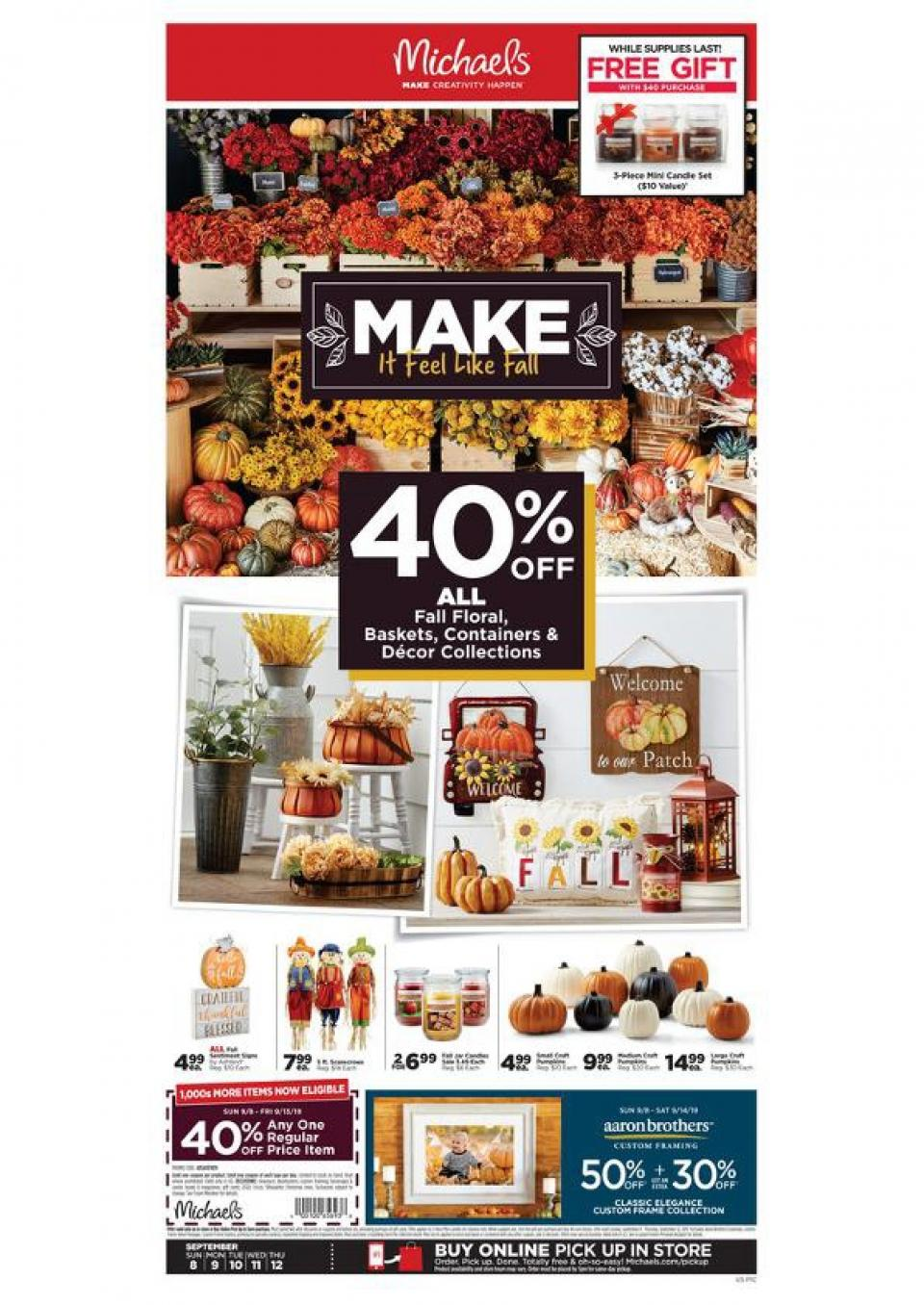 michaels weekly ad sep 8 12 2019