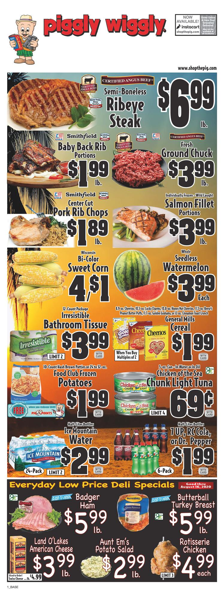 piggly wiggly august weekly ad valid from aug 5 11 2020