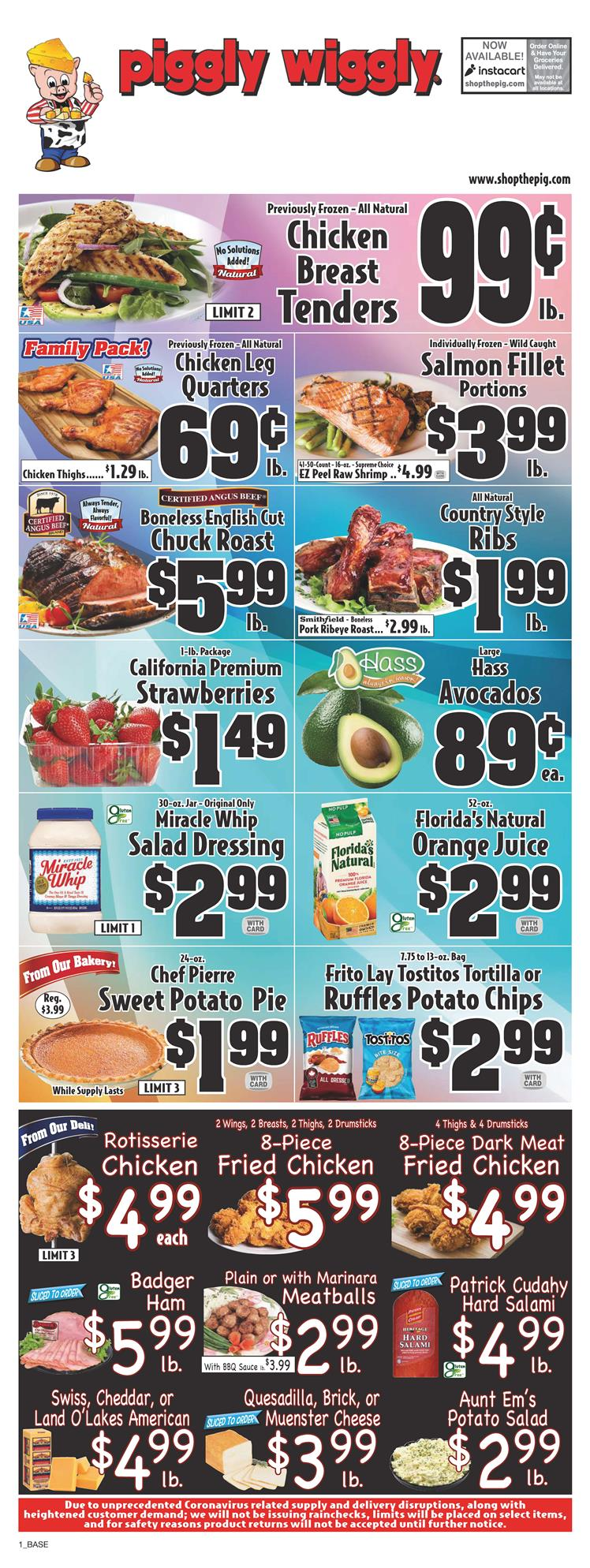piggly wiggly mid june weekly ad valid from jun 10 16 2020