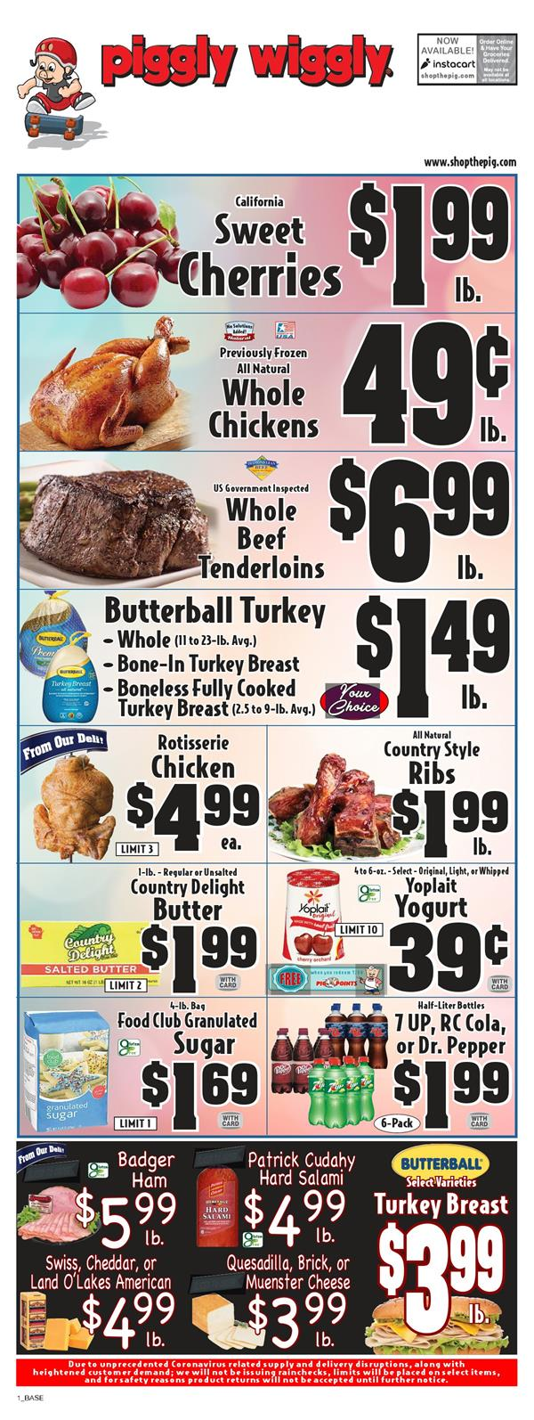 Piggly Wiggly Fresh Produce Final May Ad valid from May 27 – Jun 2, 2020