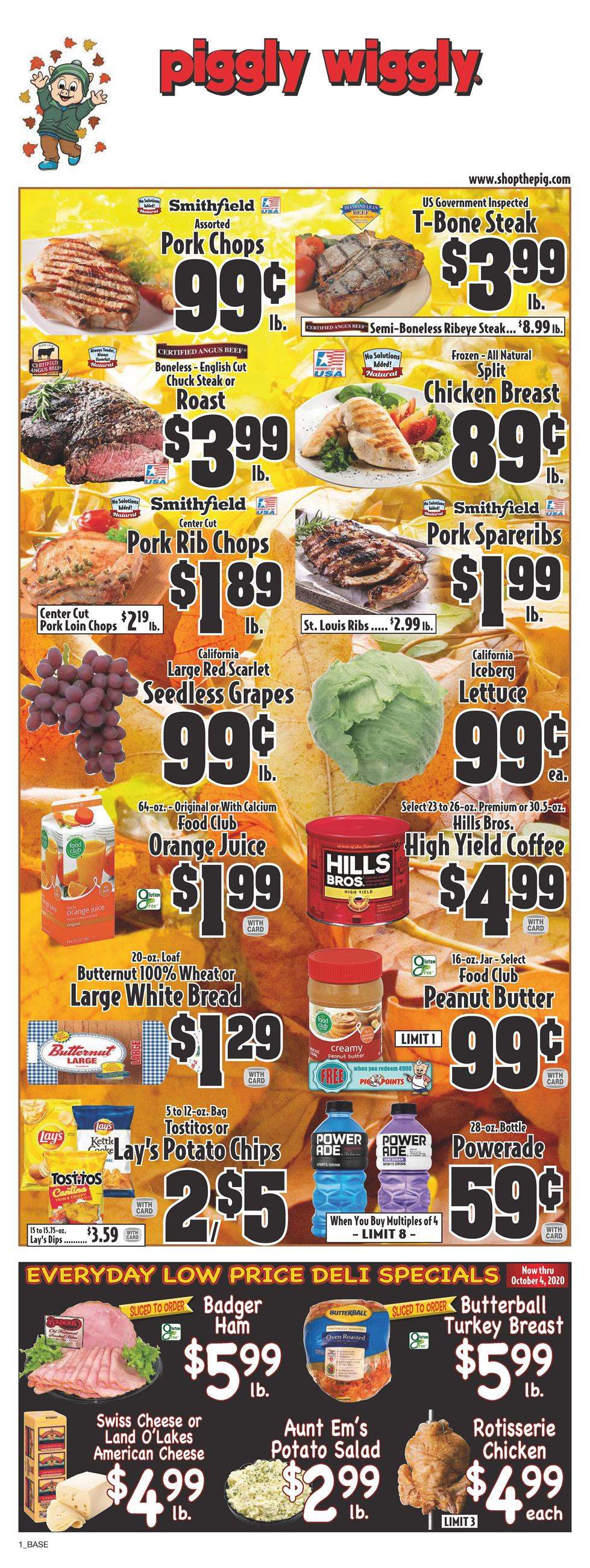 Piggly Wiggly September Weekly Ad valid from Sep 16 – 22, 2020