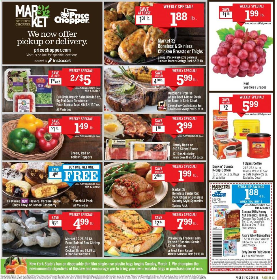 Price Chopper February Grocery Ad valid from Feb 16 – 22, 2020.