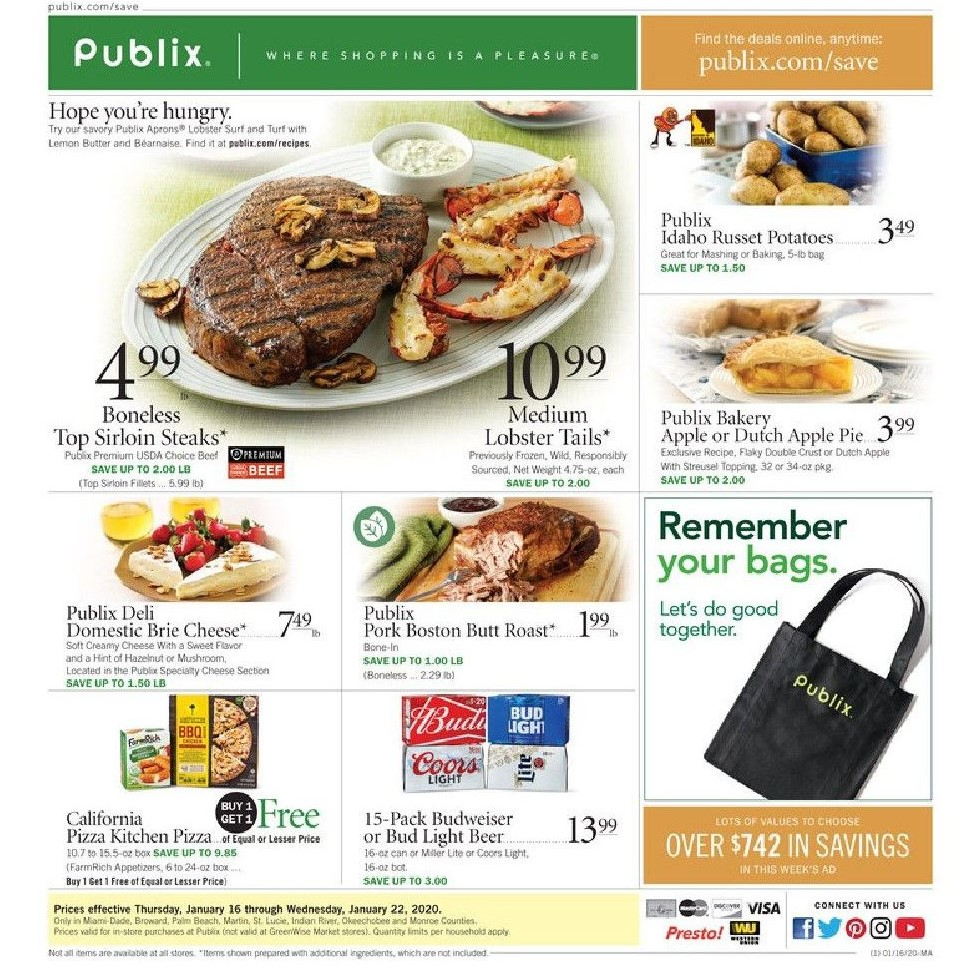 publix weekly ad jan 22 2020