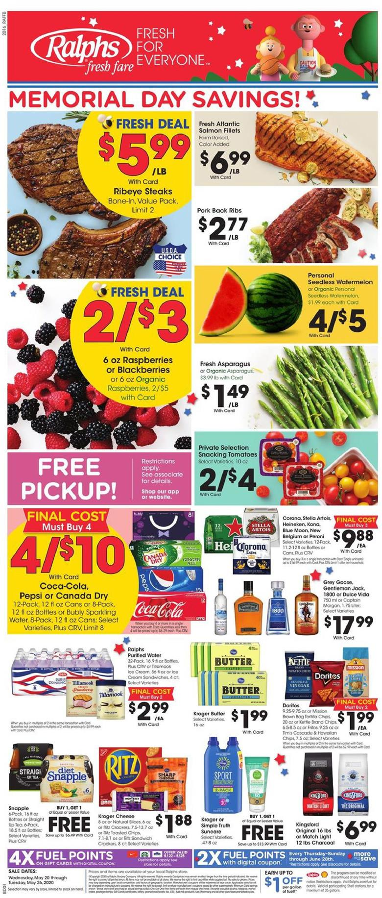 Ralphs May Grocery Weekly Ad valid from May 20 – 26, 2020