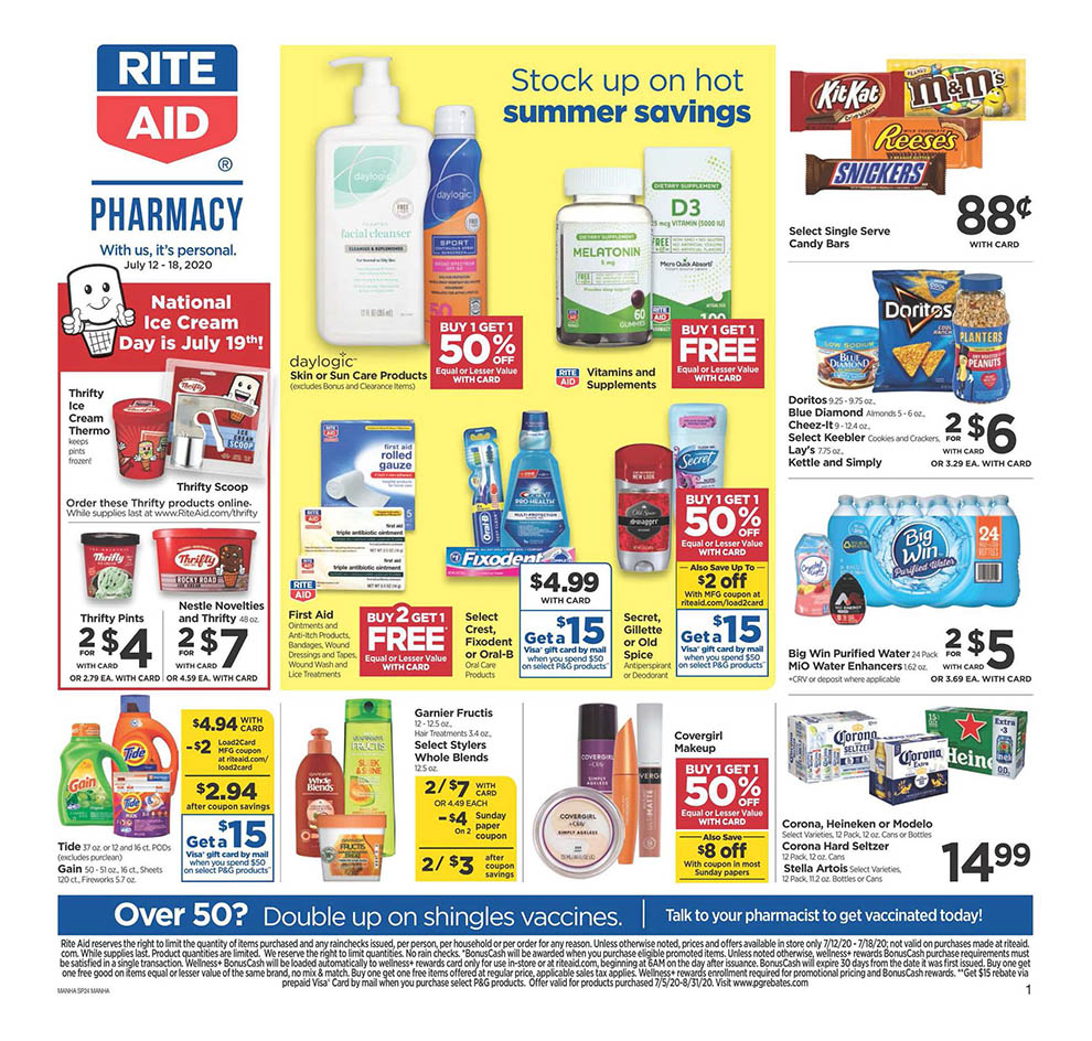 rite aid mid july weekly ad valid from jul 12 18 2020