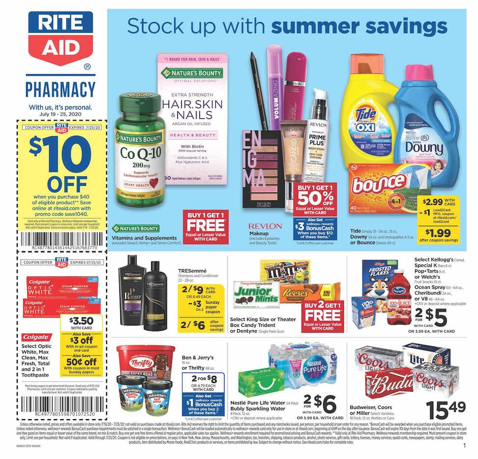 rite aid weekly july ad valid from jul 19 jul 25 2020