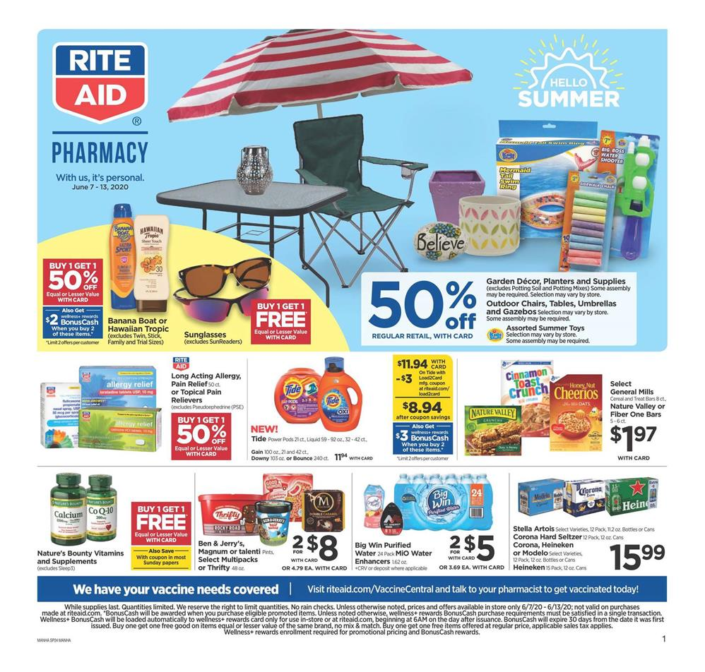 rite aid hello summer weekly ad valid from jun 7 13 2020