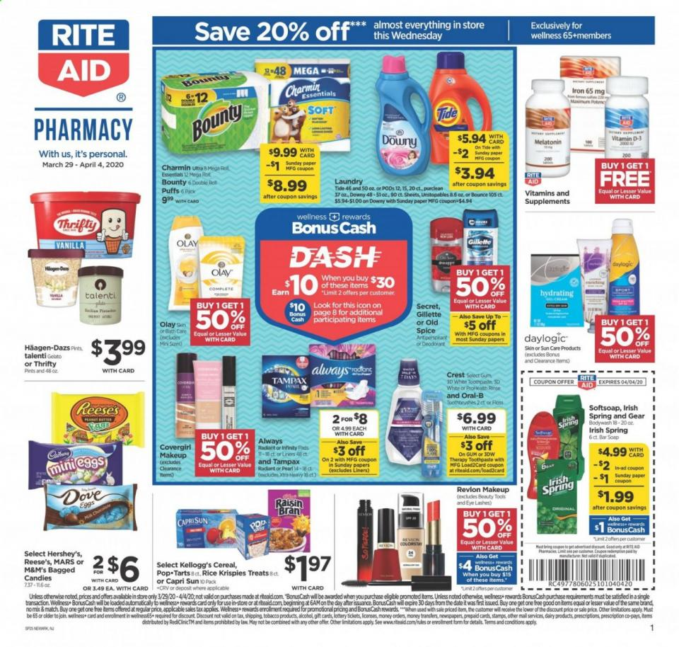 Rite Aid April Weekly Ad valid from Mar 29 – Apr 4, 2020.