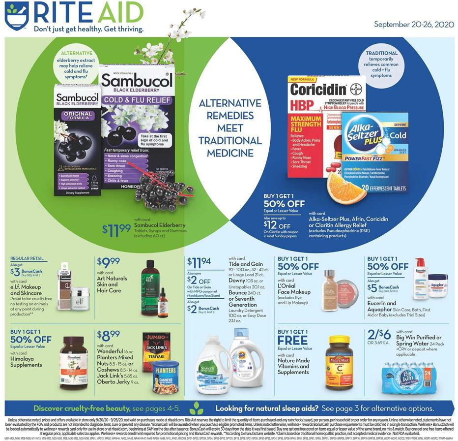Rite Aid Final September Weekly Ad valid from Sep 20-26, 2020