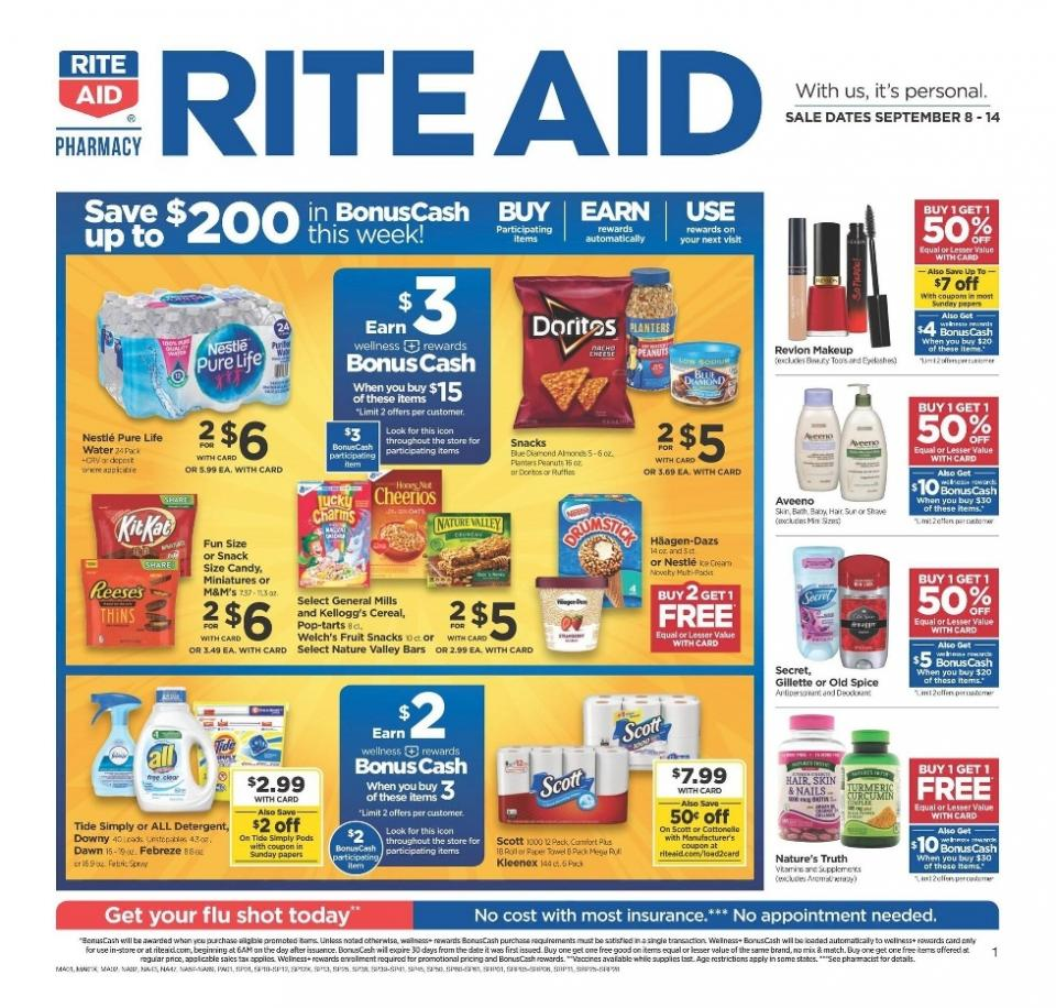 save money with rite aid ad sep 8 14 2019