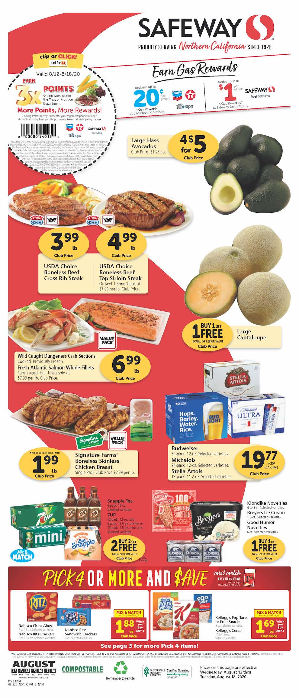 safeway weekly ad aug 12 2020