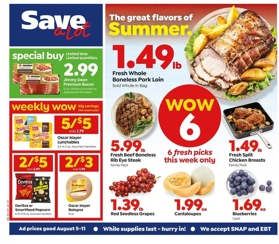 save a lot august weekly ad valid from aug 5 11 2020