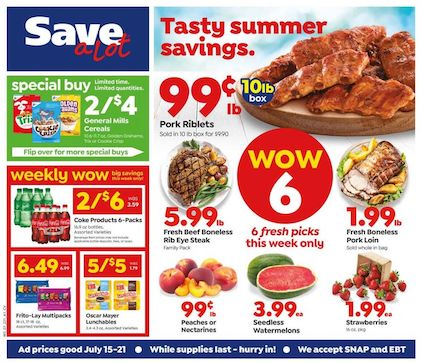 save a lot mid july weekly ad valid from jul 15 21 2020