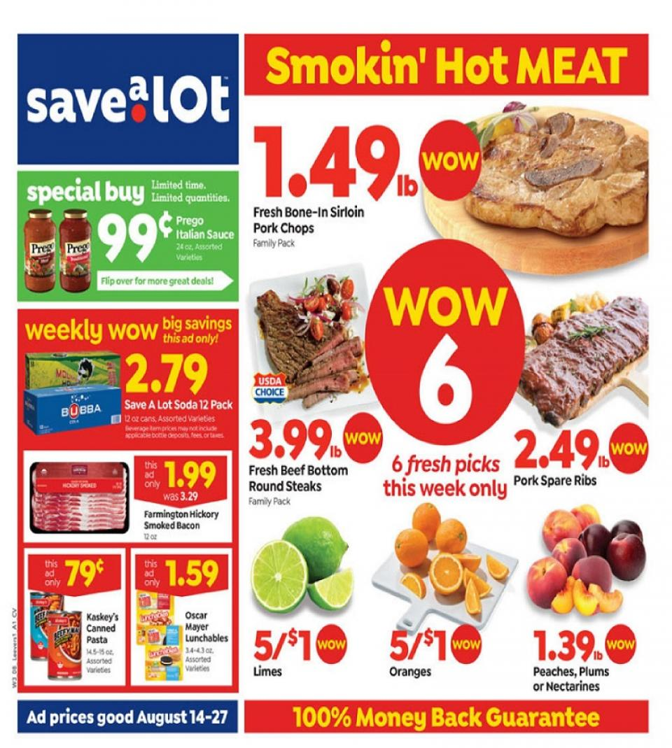 save money with save a lot weekly ad aug 14 27