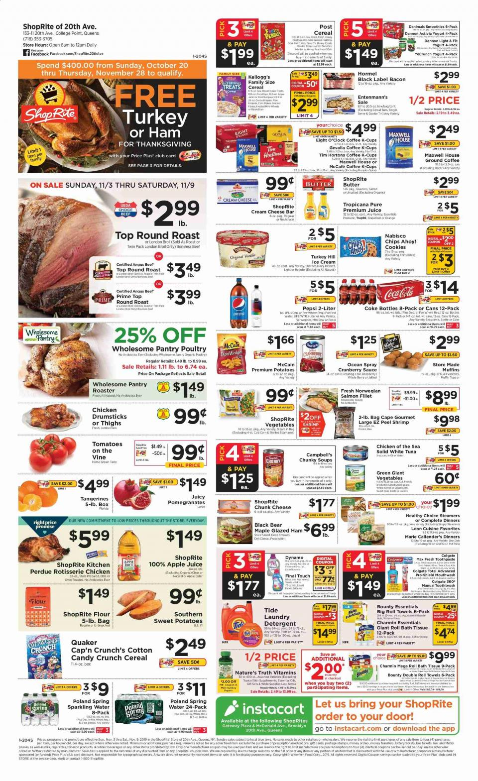 shoprite weekly ad nov 3 9 2019 meat and groceries