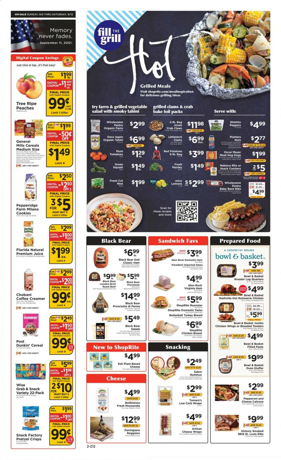 shoprite september weekly ad valid from sep 6 12 2020