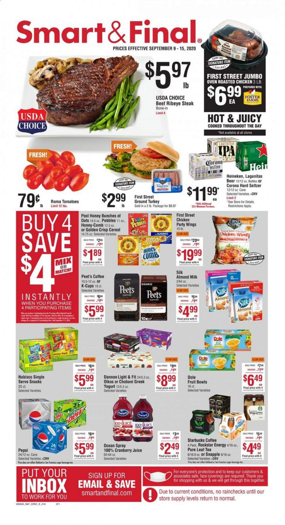 Smart and Final Weekly September Ad valid from Sep 9 – 15, 2020
