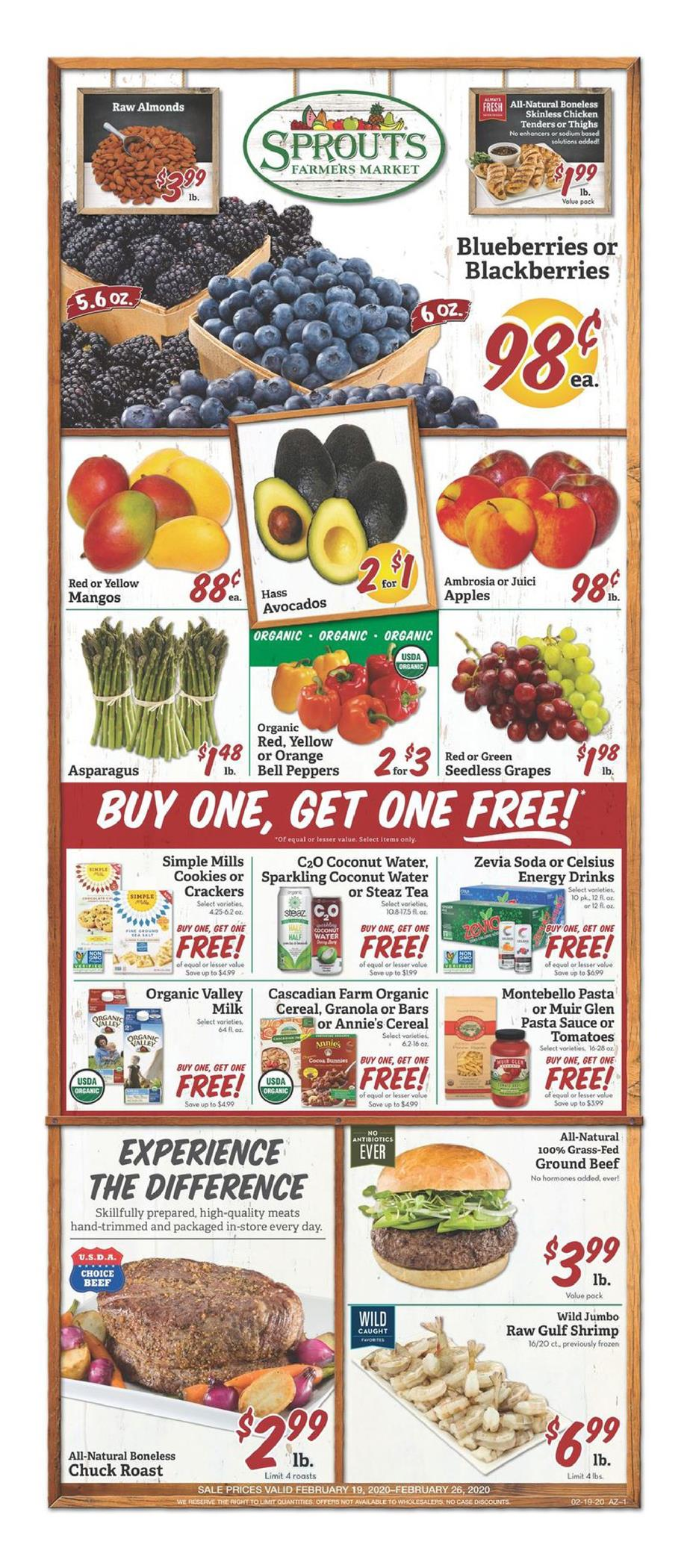 Sprouts Final February Ad valid from Feb 19 – 25, 2020.