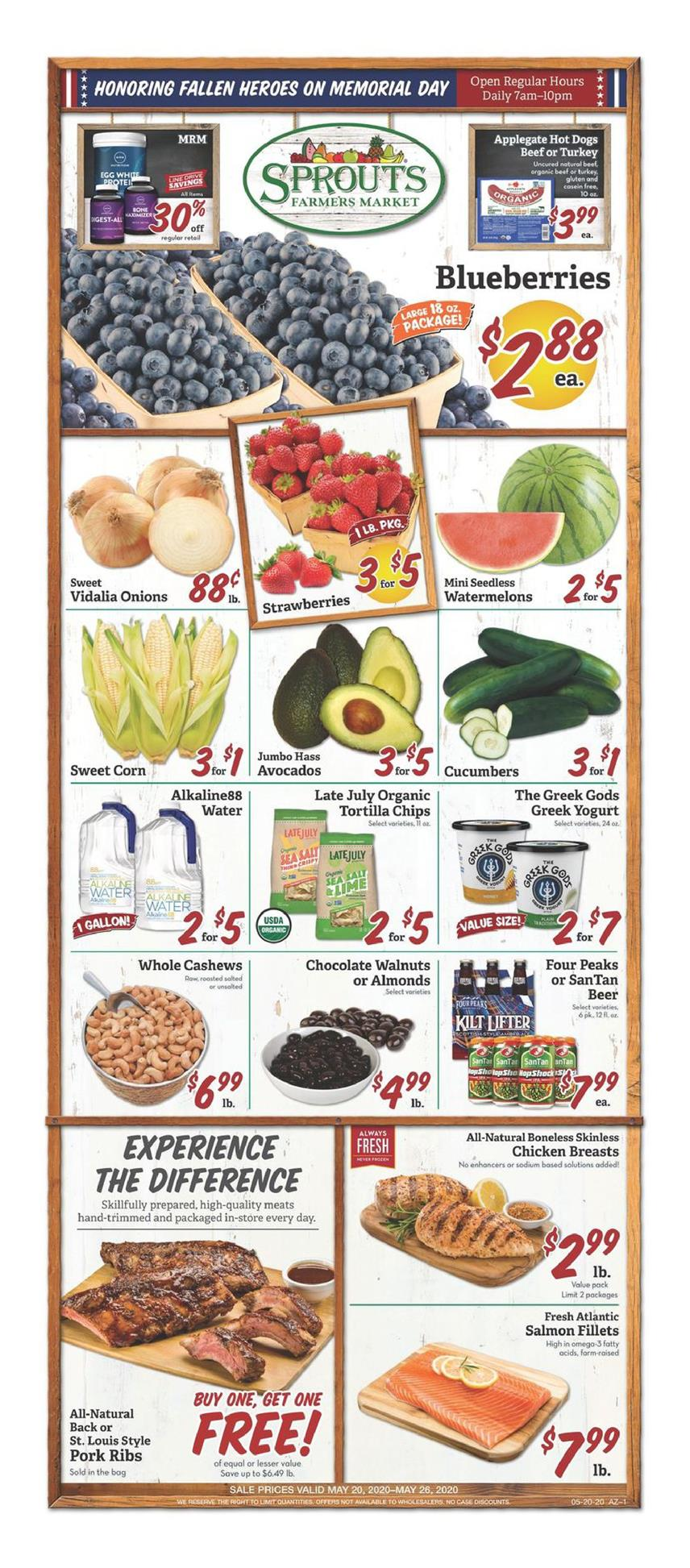 Sprouts May Weekly Grocery Ad valid from May 20 – 26, 2020