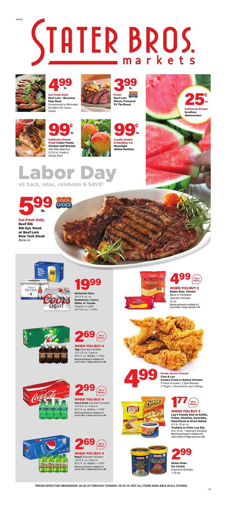 stater bros ad aug 28 2019