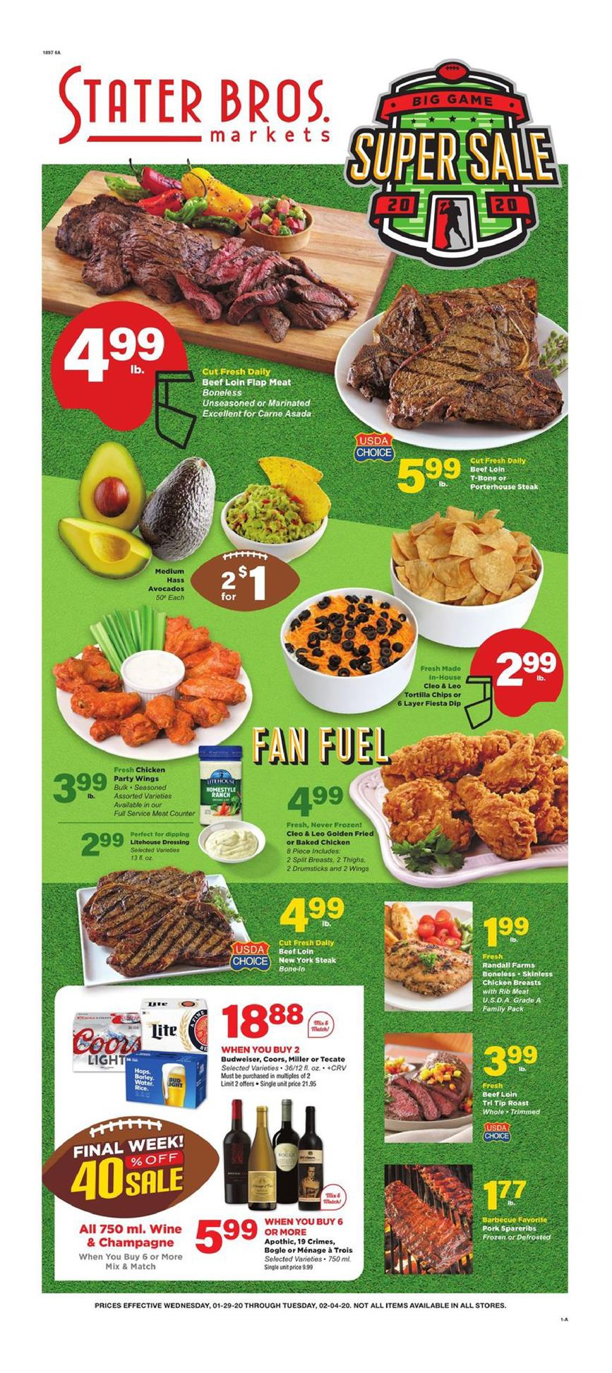 stater bros early february ad valid from jan 29 feb 4 2020