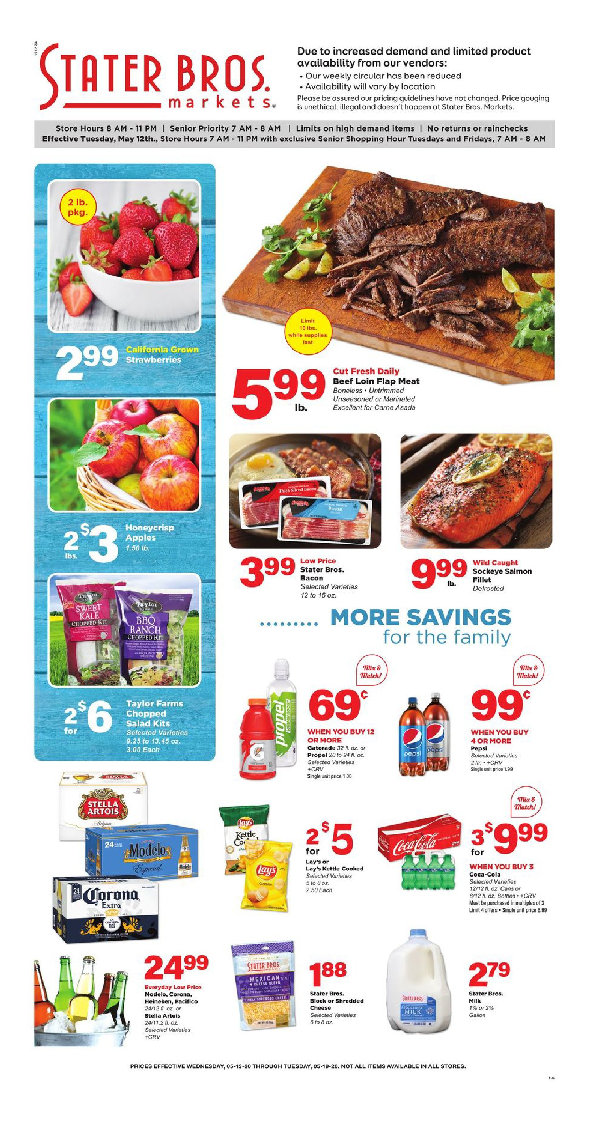 stater bros mid may weekly ad valid from may 13 19 2020
