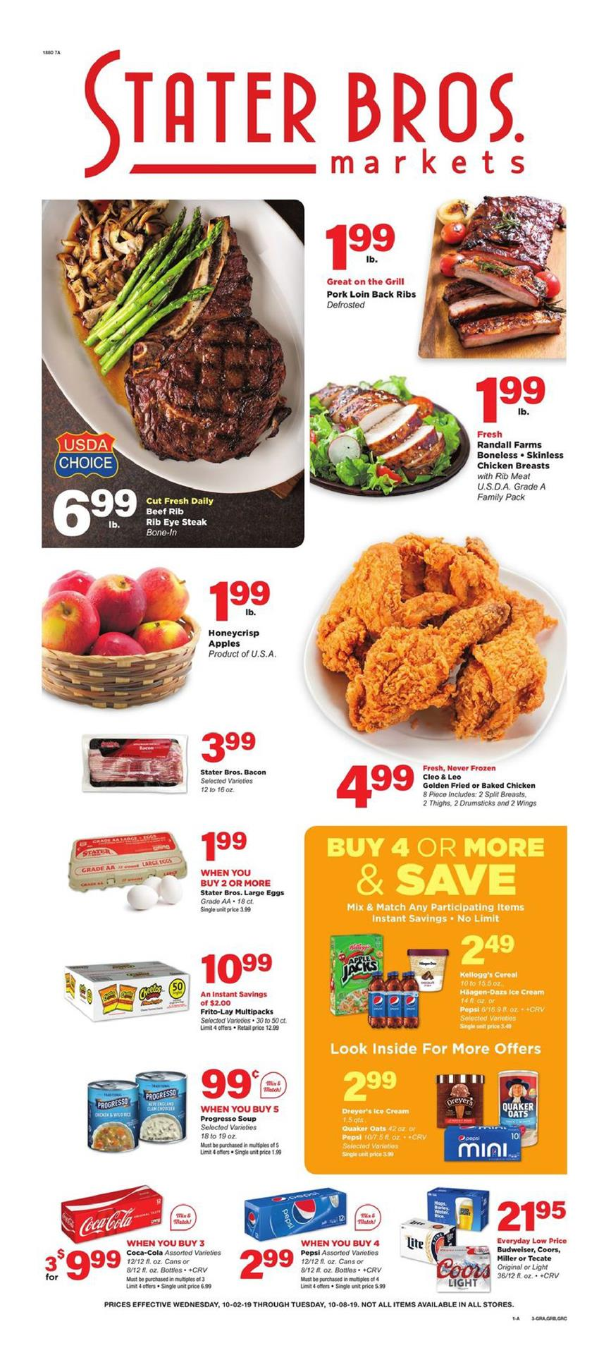 stater bros ad oct 2 2019