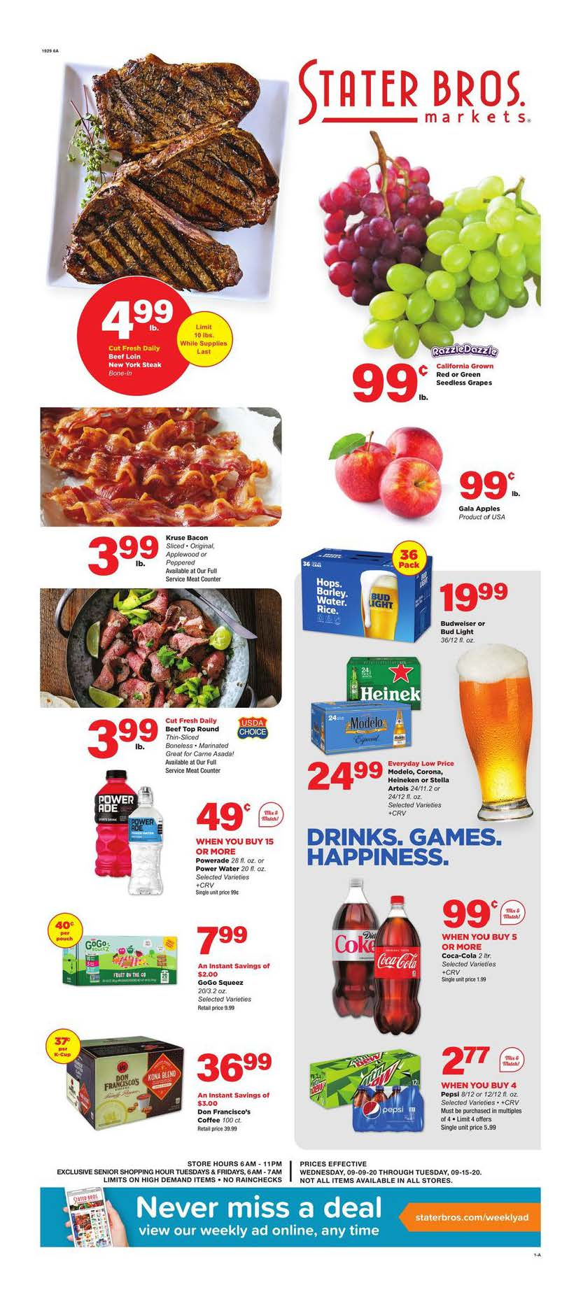 stater bros september weekly ad valid from sep 9 15 2020
