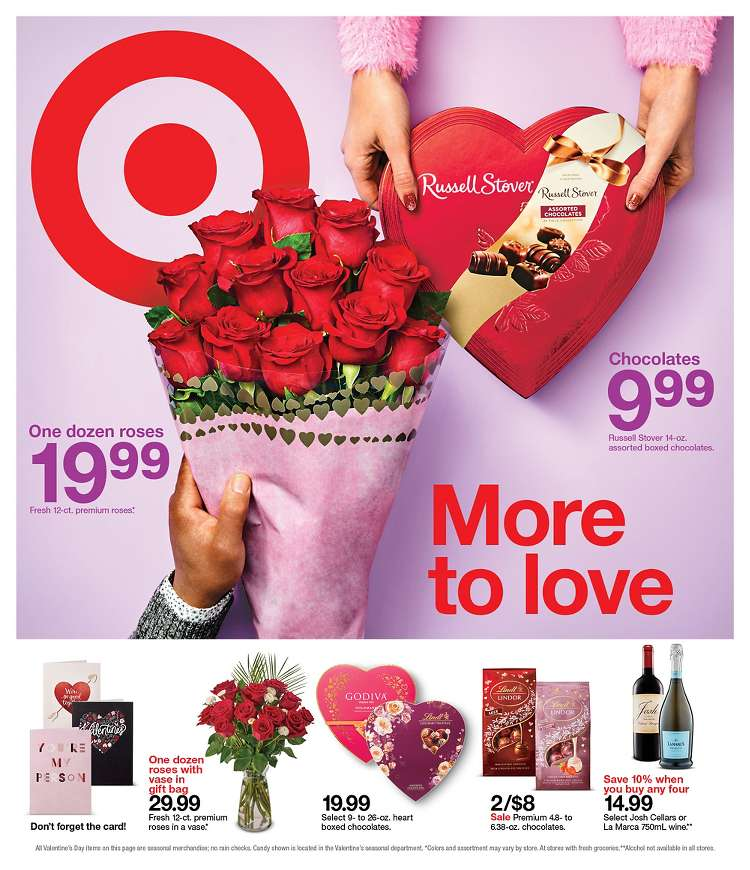 target valentines day weekly ad valid from feb 9 15 2020