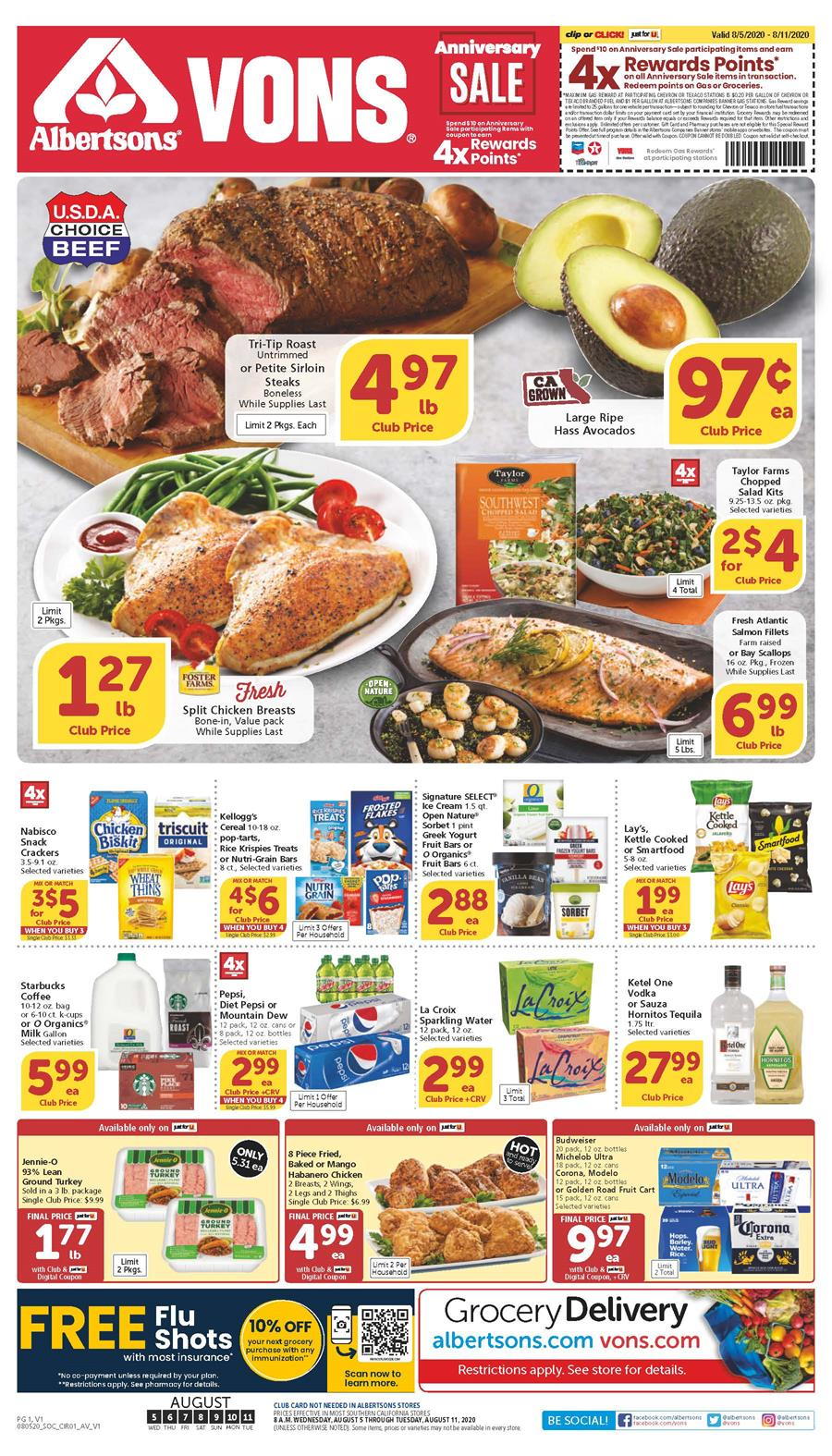 vons august weekly ad valid from aug 5 11 2020