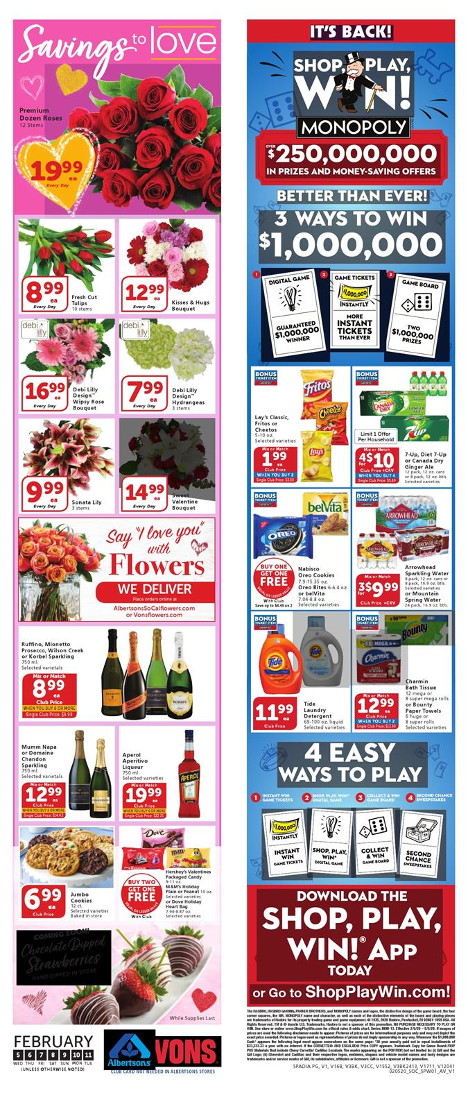 vons weekly ad feb 5 2020