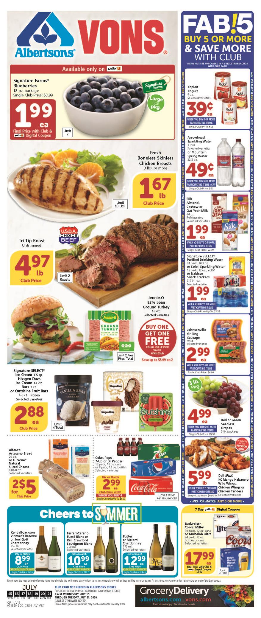 vons weekly mid july ad valid from jul 15 21 2020