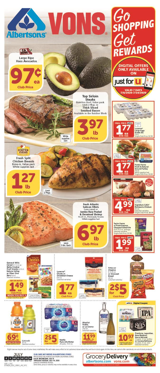 vons weekly ad jul 8 2020
