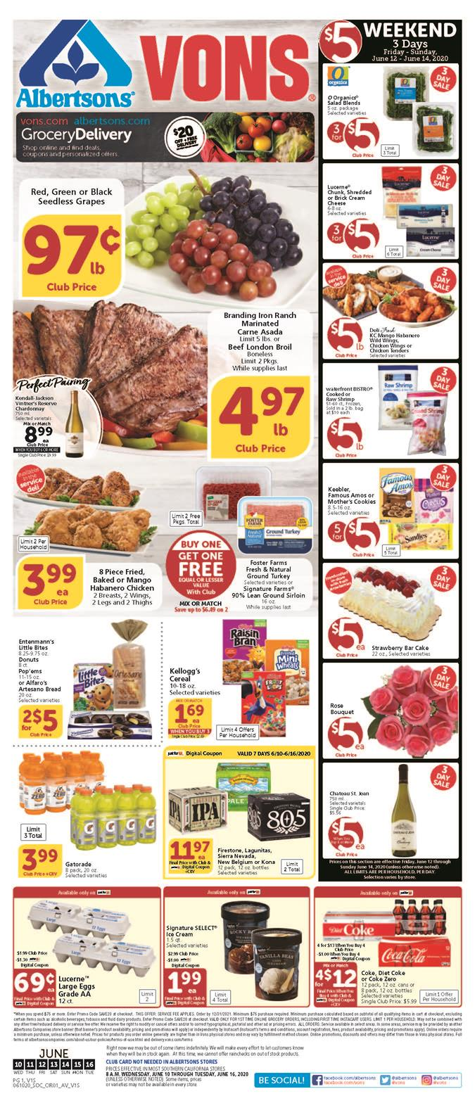 vons weekly ad jun 10 2020
