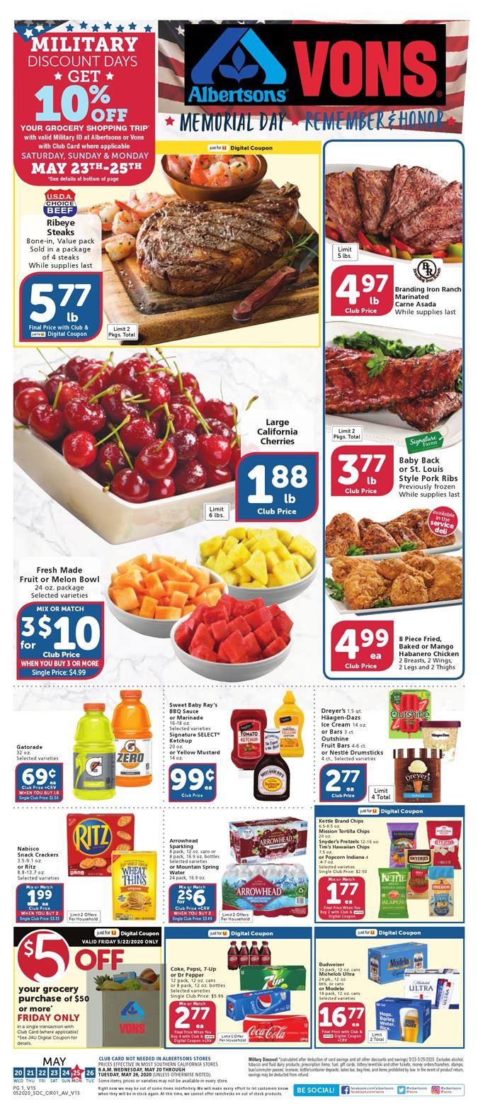 vons weekly ad may 20 2020