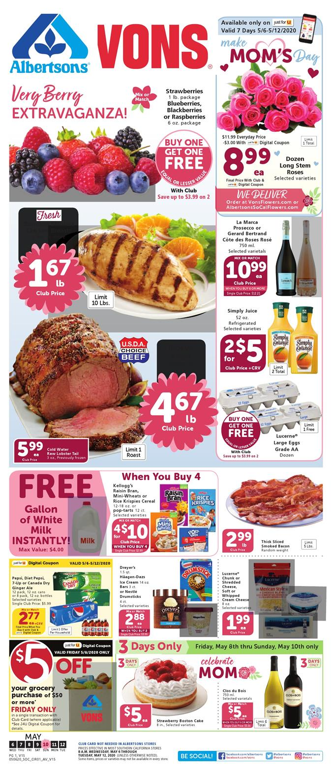 vons weekly ad may 6 2020