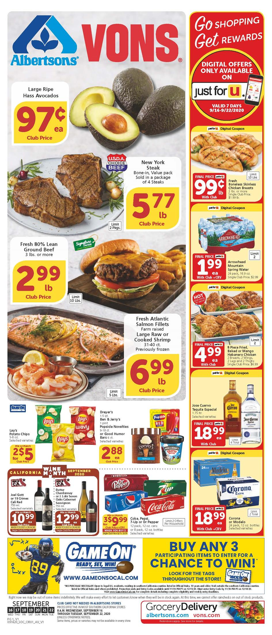 vons weekly ad sep 16 2020