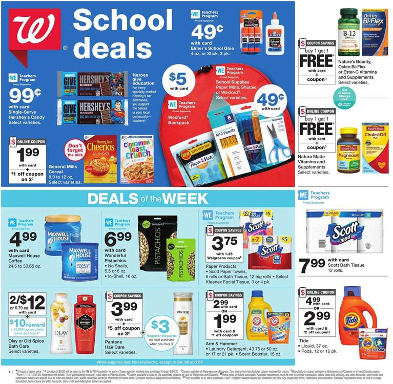 walgreens august weekly ad valid from aug 2 8 2020