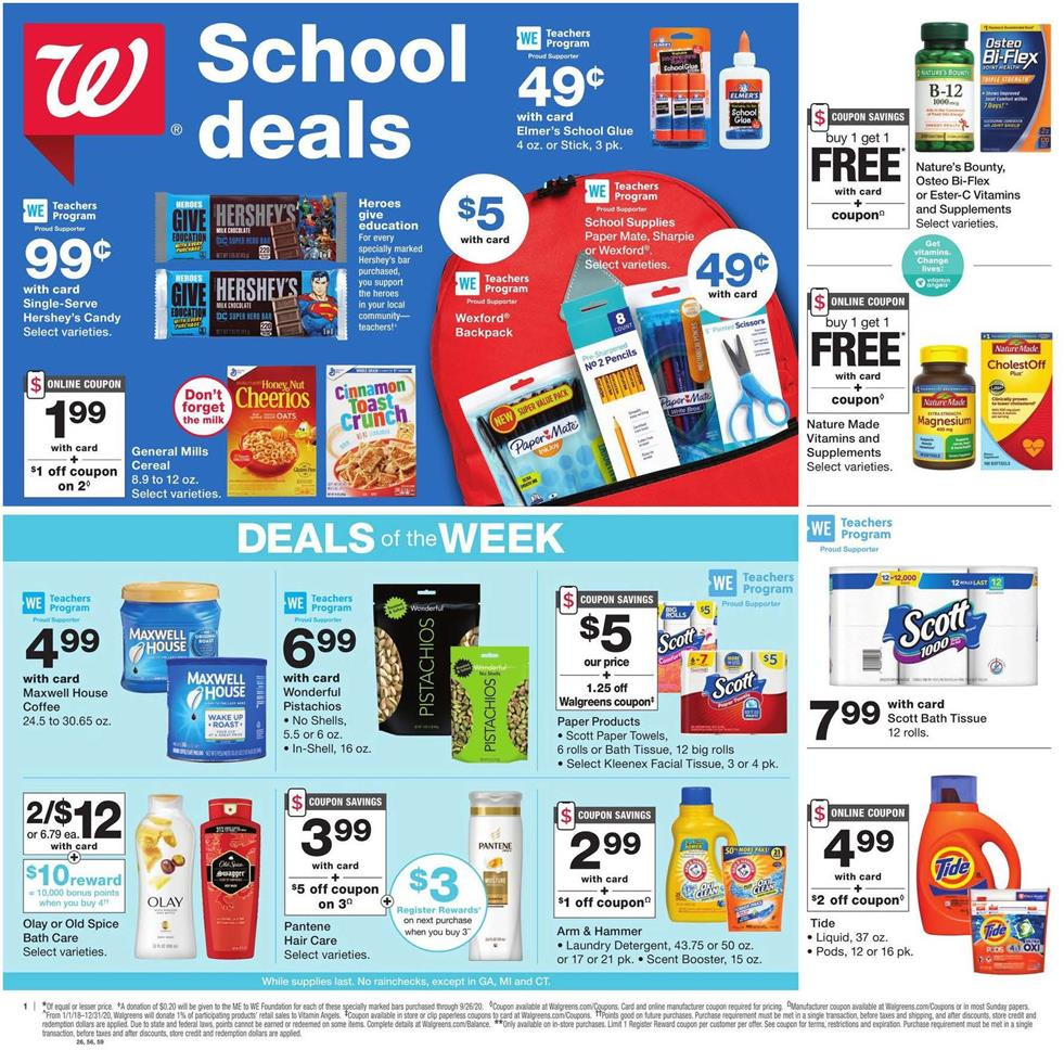 walgreens weekly august ad valid from aug 9 15 2020