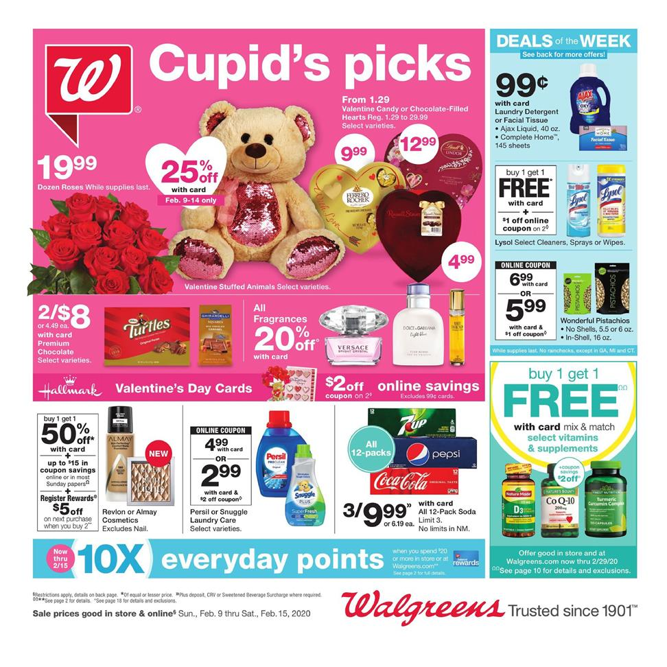 walgreens mid february weekly ad valid from feb 9 15 2020