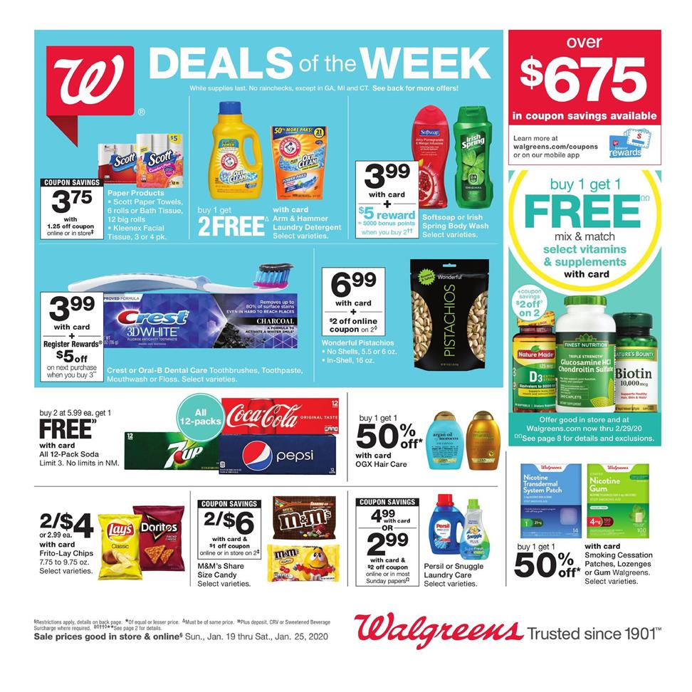 walgreens final january weekly ad valid from jan 19 25 2020