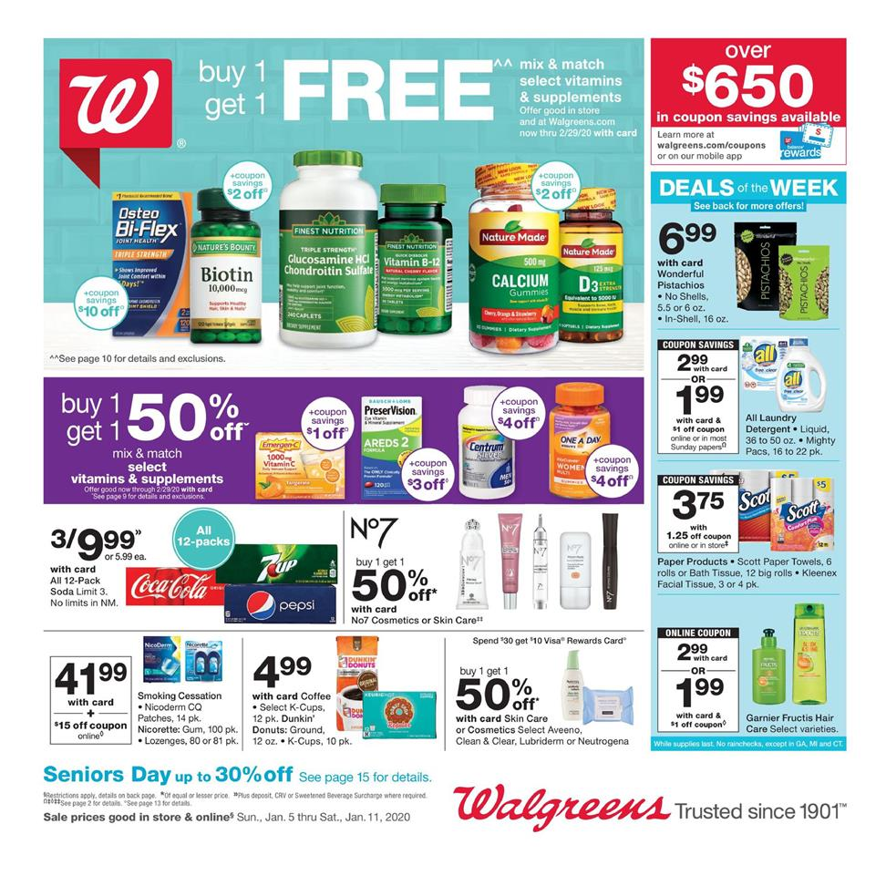 walgreens weekly ad jan 5 2020