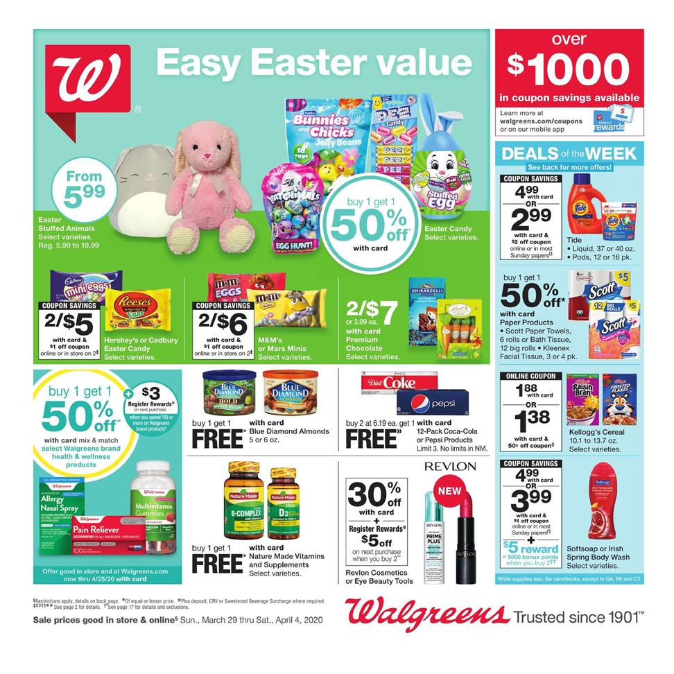 walgreens final march weekly ad valid from mar 29 apr 4 2020