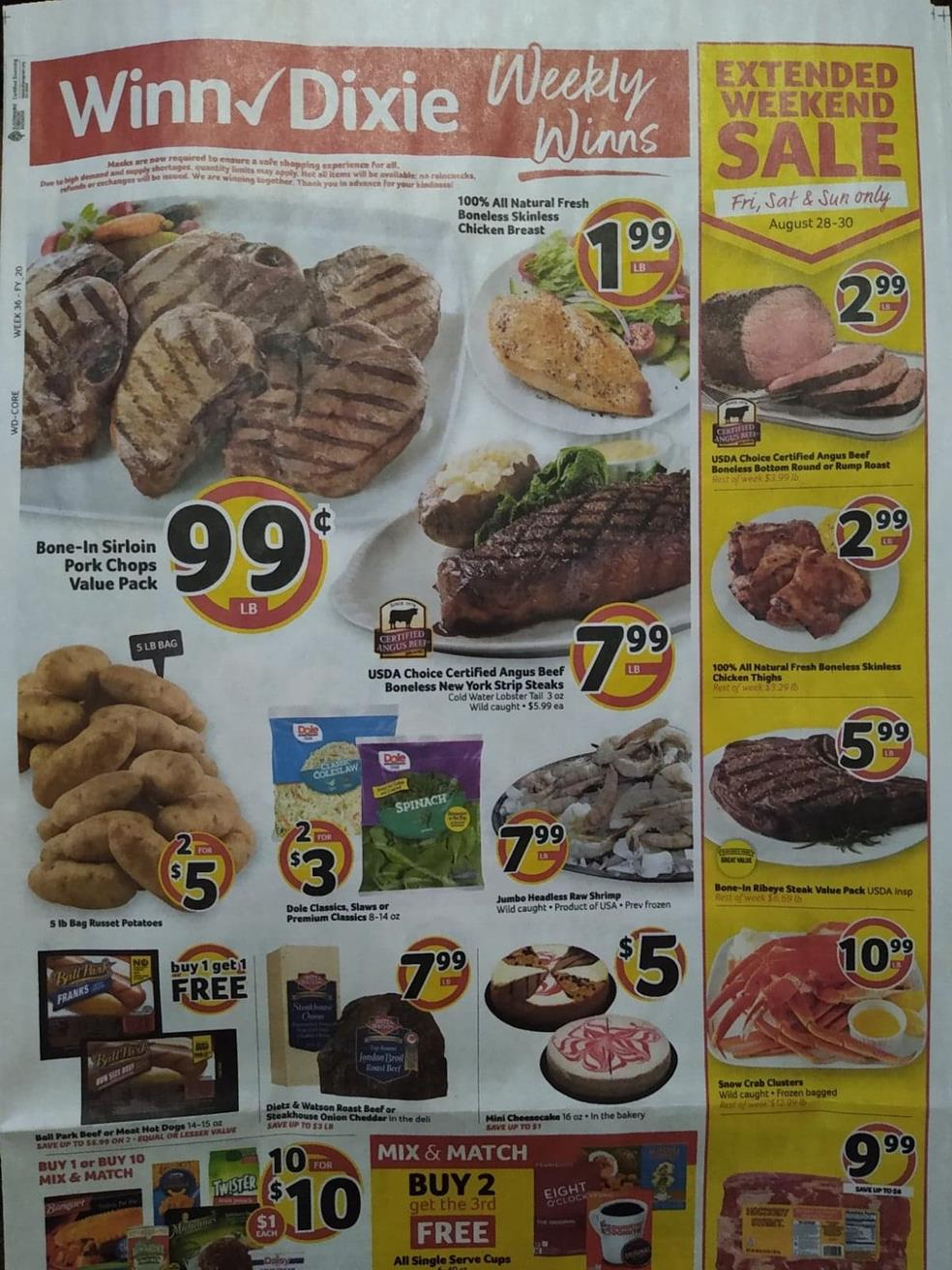 winn dixie weekly ad aug 26 2020