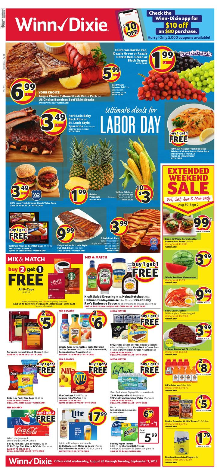 winn dixie weekly ad aug 28 2019