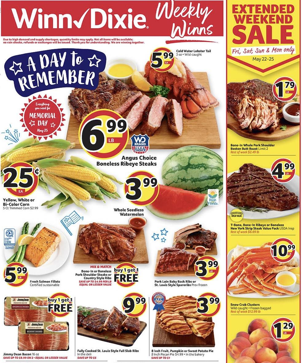 winn dixie may grocery weekly ad valid from may 20 26 2020 2